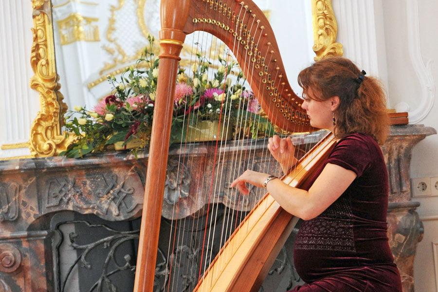 Harfe für Hochzeit