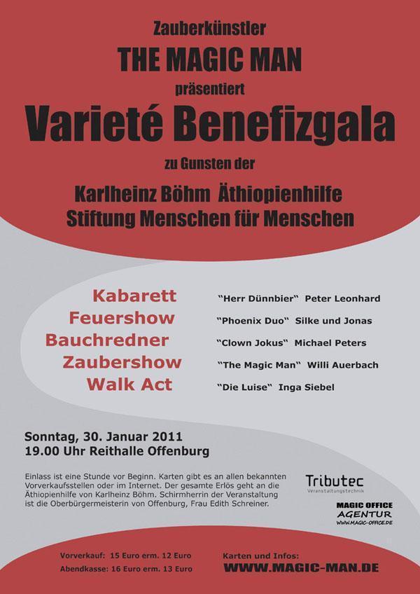 Variete Benefizgala von Willi Auerbach in der Reithalle in Offenburg